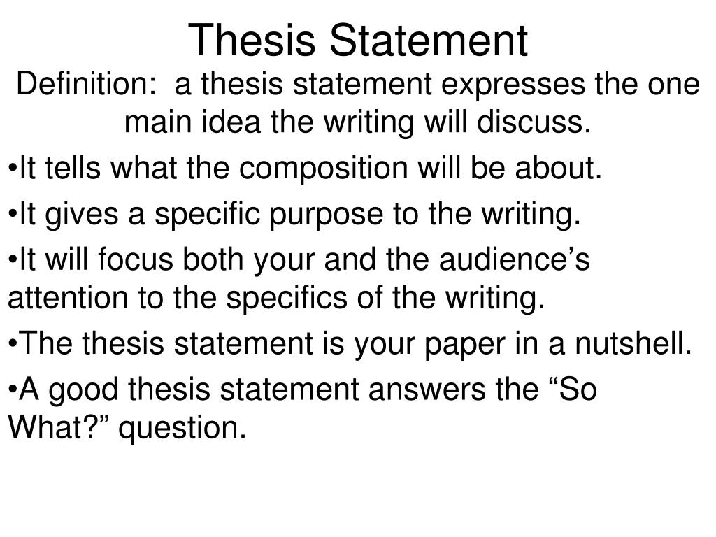 what is a thesis question
