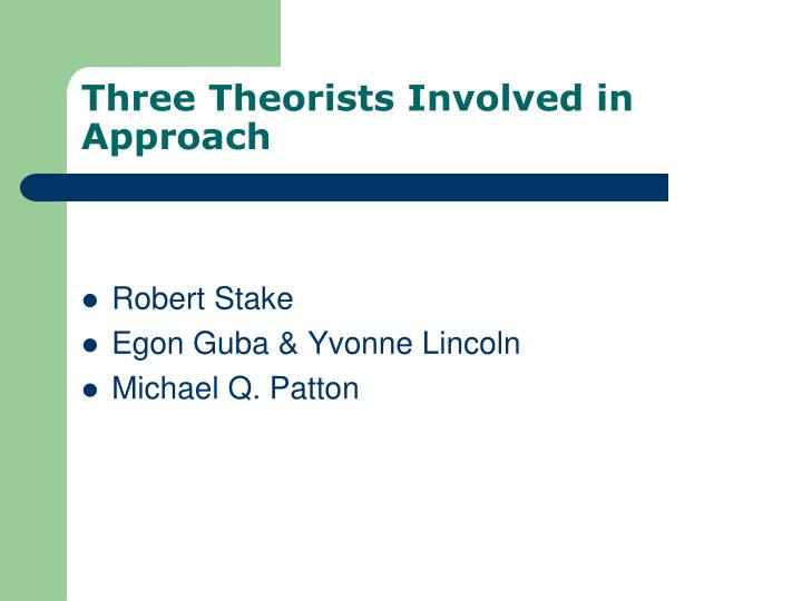 Three Theorists Involved in Approach