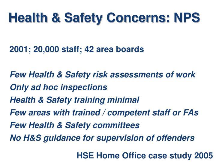 Health & Safety Concerns: NPS