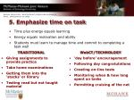 5 emphasize time on task
