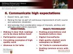 6 communicate high expectations
