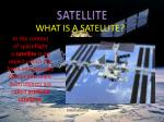 what is a satellite