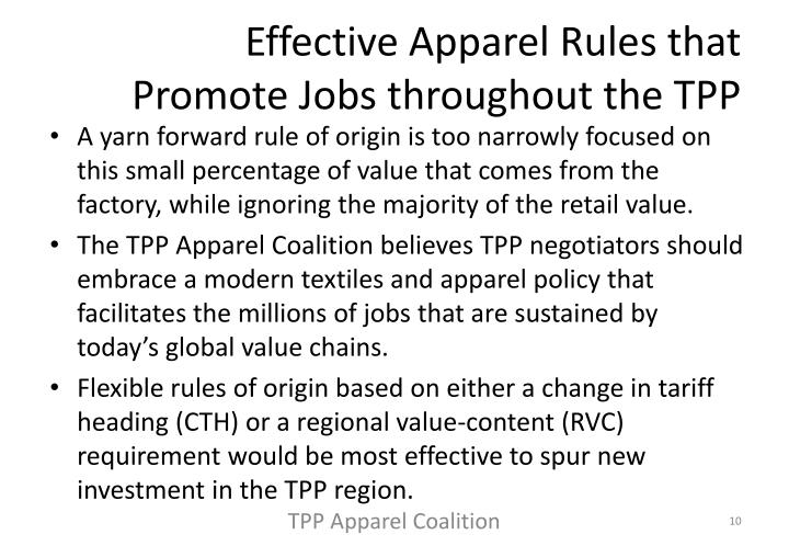 Effective Apparel Rules that