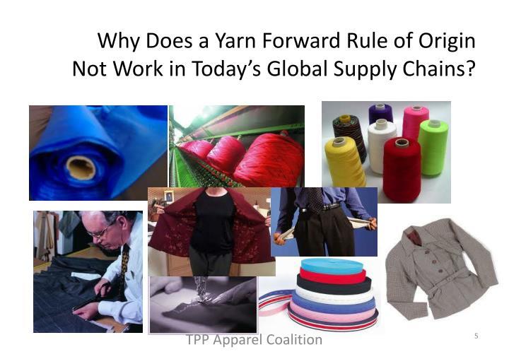 Why Does a Yarn Forward Rule of Origin