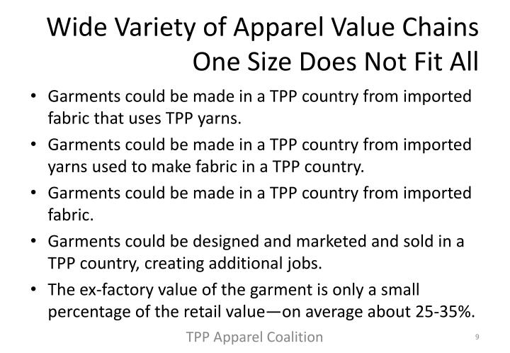 Wide Variety of Apparel Value Chains