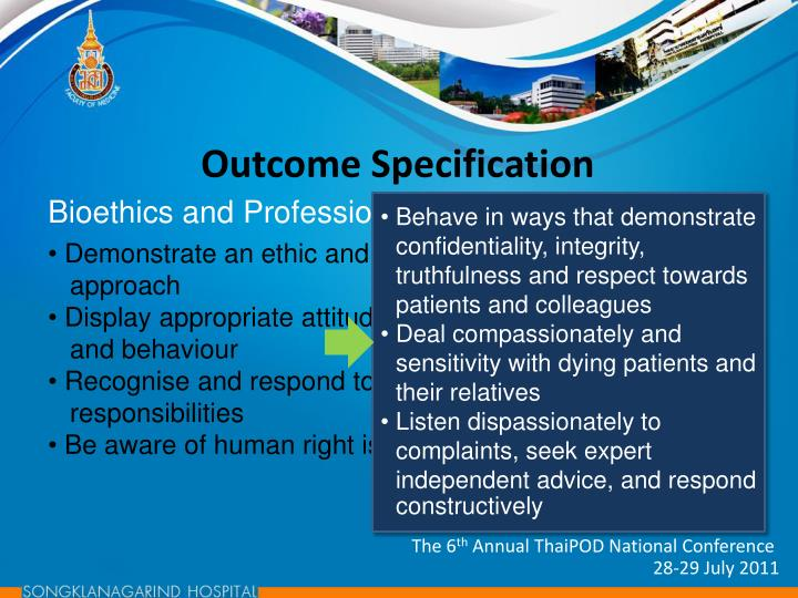 Outcome Specification