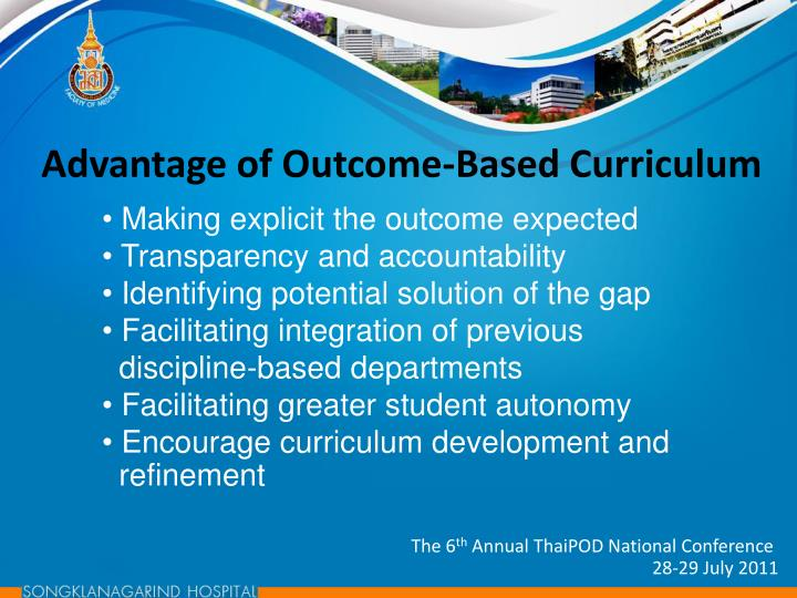 Advantage of Outcome-Based Curriculum