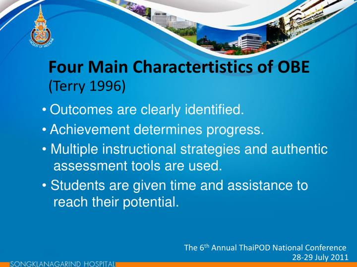 Four Main Charactertistics of OBE