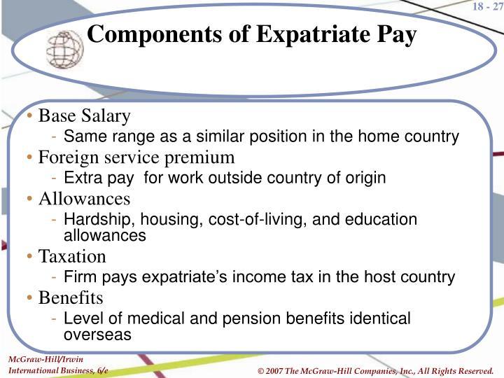 expatriate pay