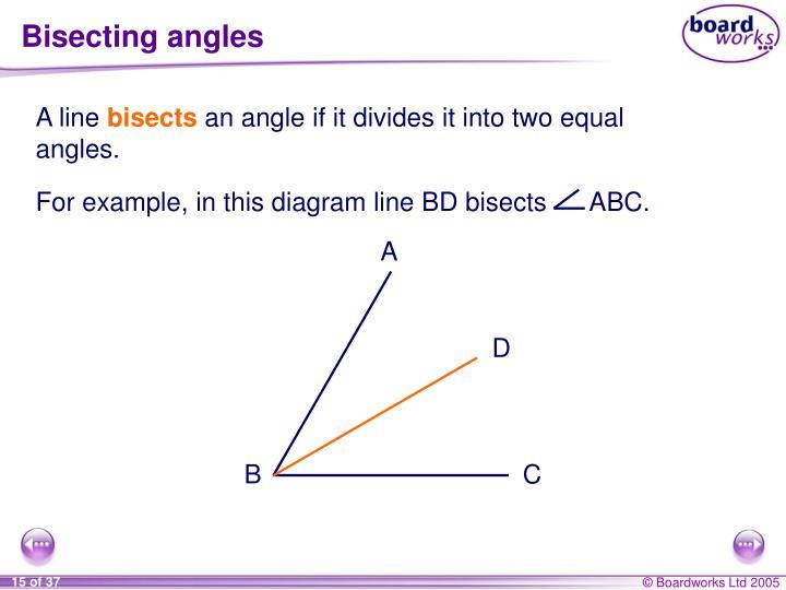 Bisecting angles