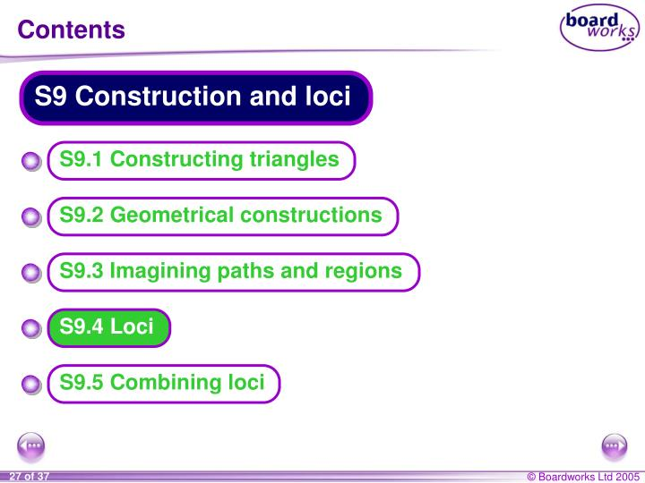 S9 Construction and loci