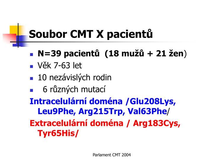 Soubor CMT X pacientů