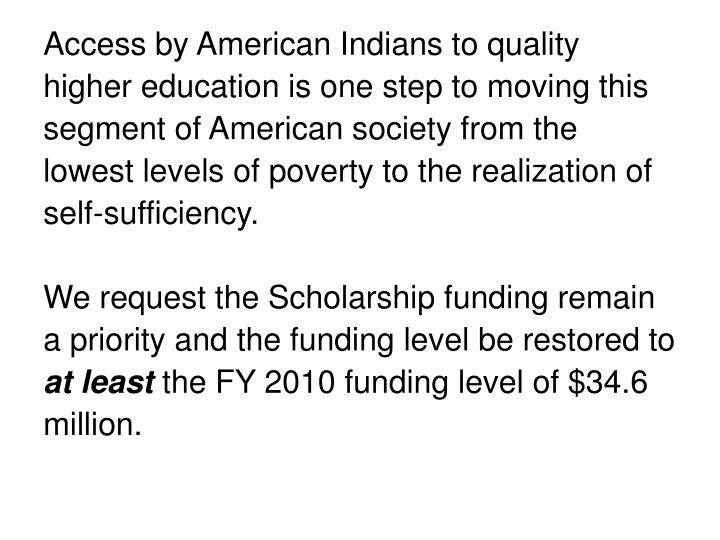 Access by American Indians to quality