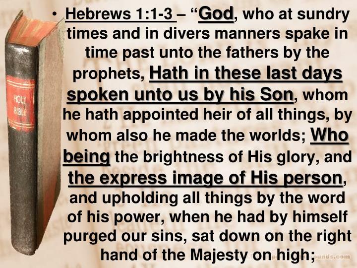 Hebrews 1:1-3