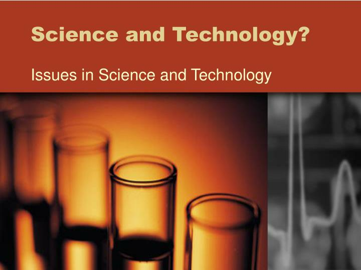 science and technology n.