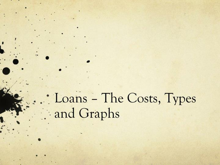 loans the costs types and graphs n.