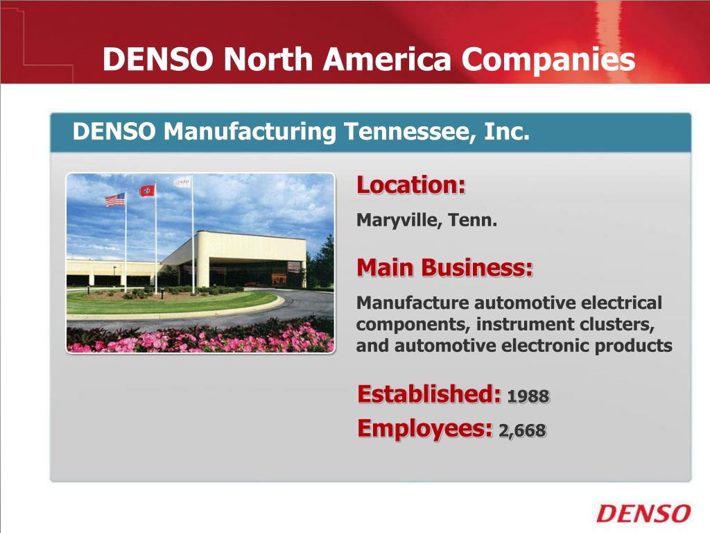 PPT - DENSO Locations -Global PowerPoint Presentation - ID