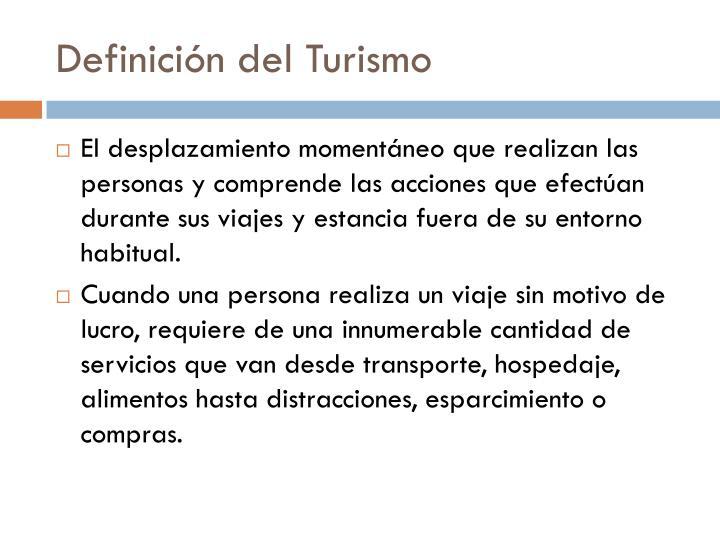 Definici n del turismo
