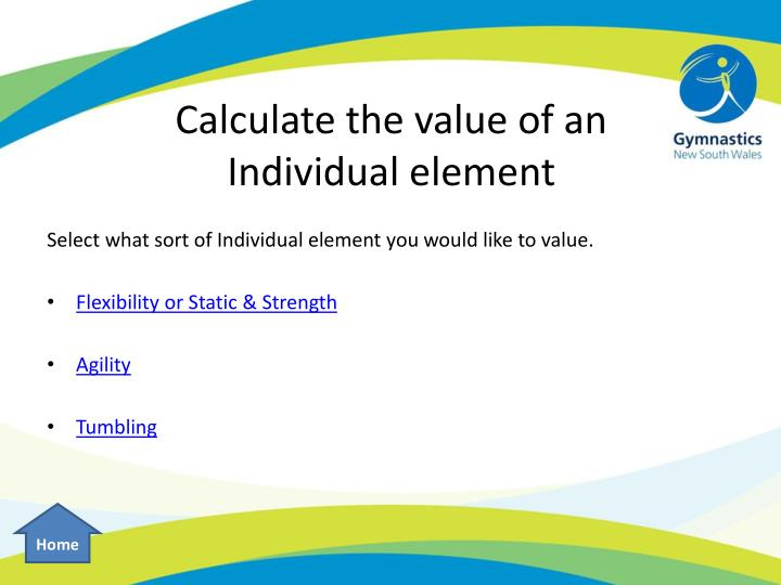 Calculate the value of an