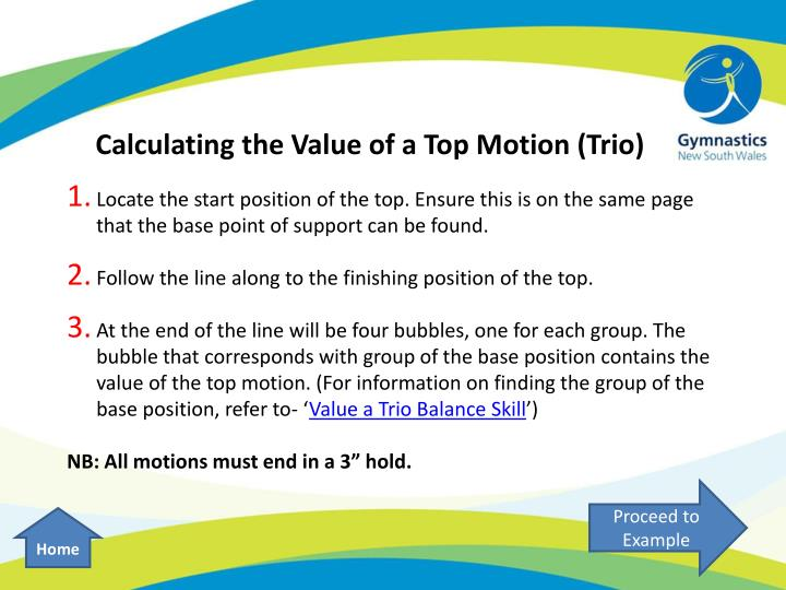 Calculating the Value of a Top Motion (Trio)