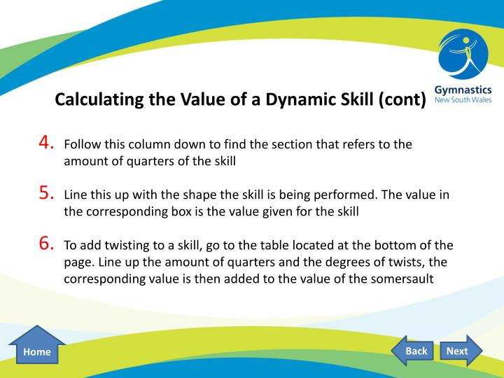 Calculating the Value of a Dynamic Skill (