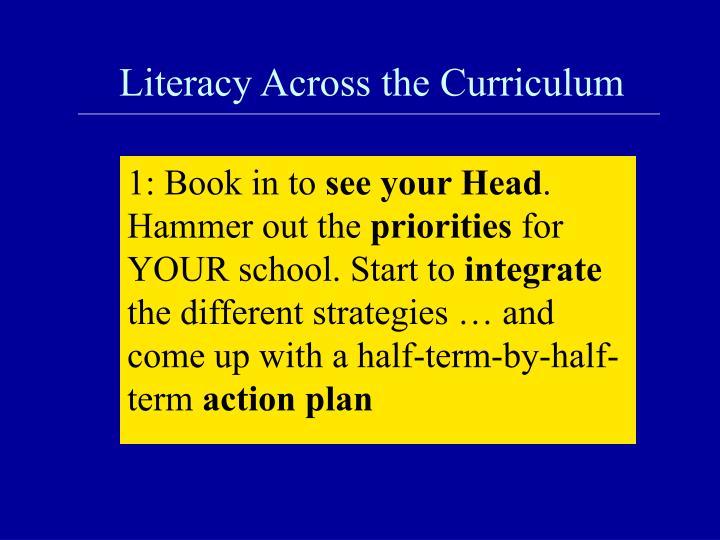 Literacy across the curriculum1