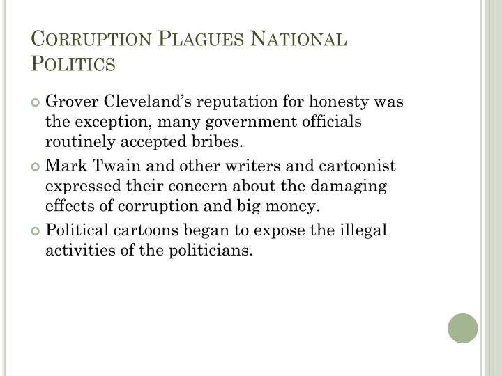 Corruption Plagues National Politics