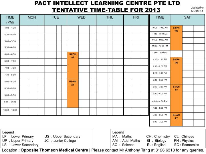 PACT INTELLECT LEARNING CENTRE PTE LTD