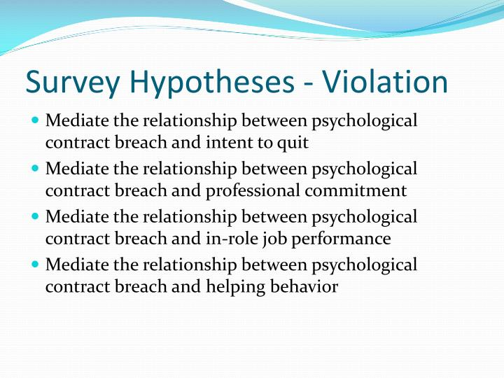 Ppt The Psychological Contract Violations And Modifications