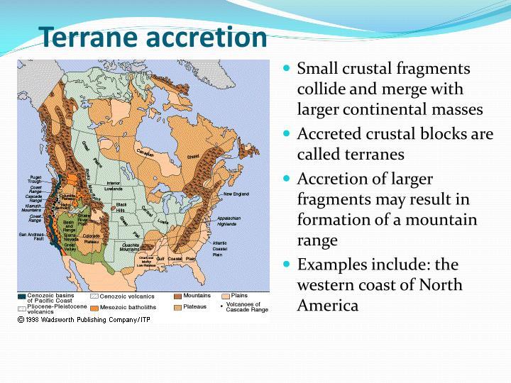 Terrane accretion