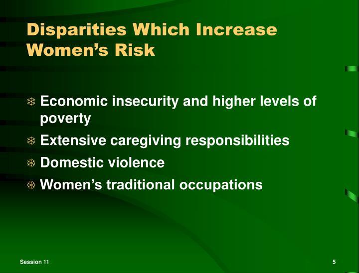 Disparities Which Increase Women's Risk