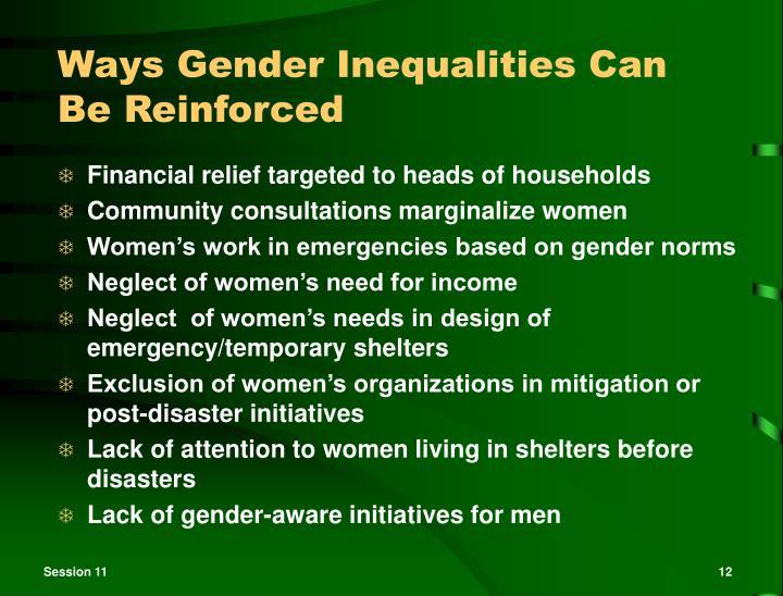 Ways Gender Inequalities Can Be Reinforced