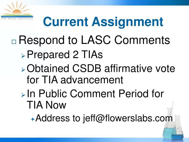 Current Assignment