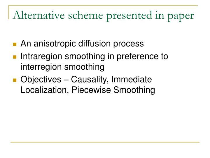 Alternative scheme presented in paper