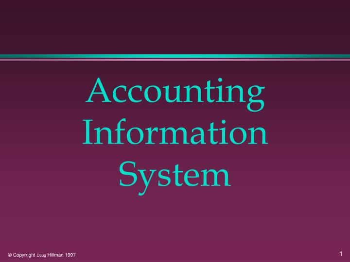 accounting information system n.