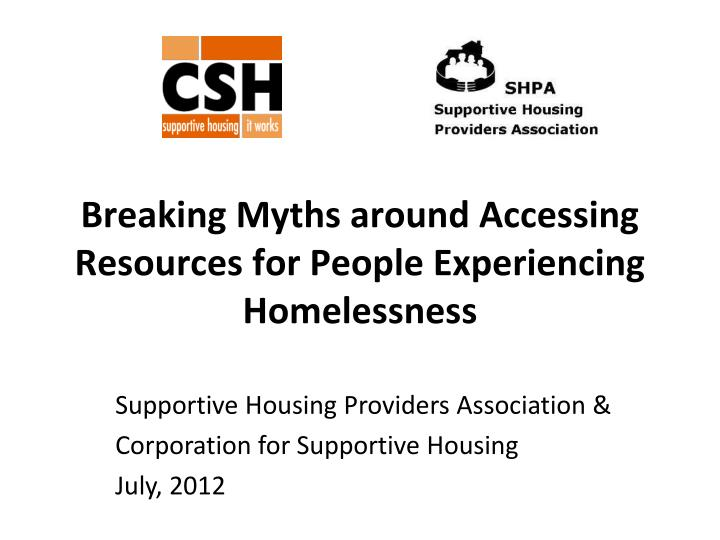 breaking myths around accessing resources for people experiencing homelessness n.
