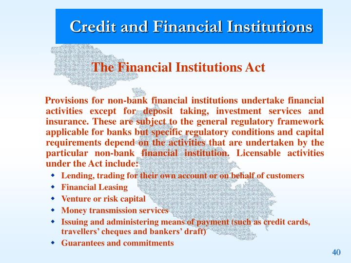 Credit and Financial Institutions