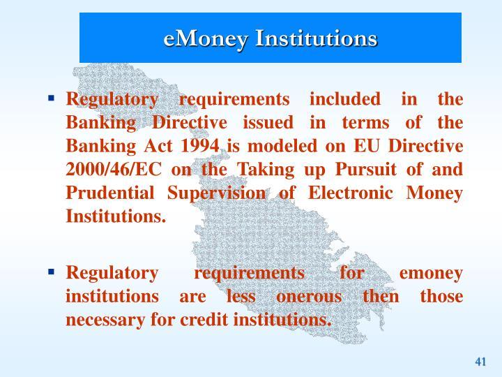 eMoney Institutions