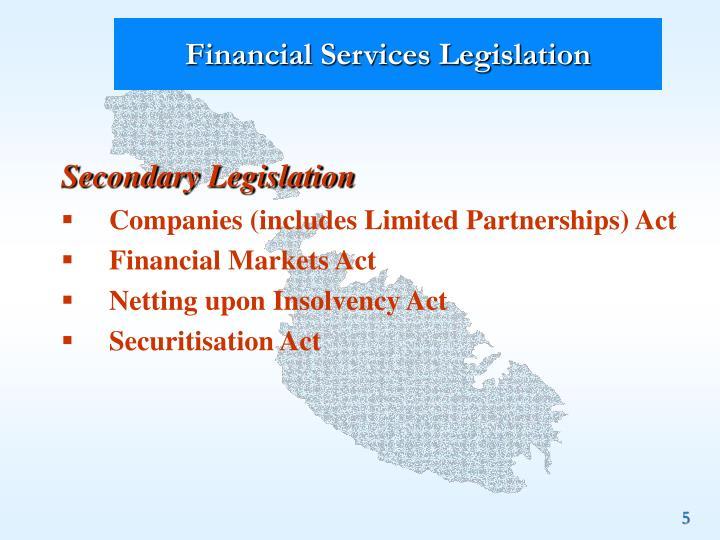 Financial Services Legislation