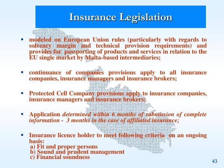 Insurance Legislation