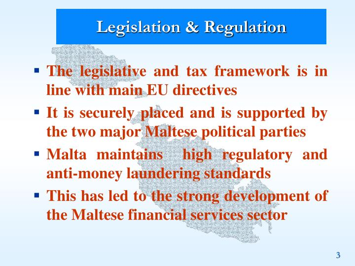 Legislation regulation