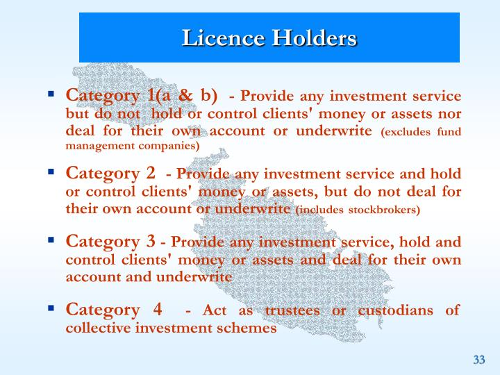 Licence Holders