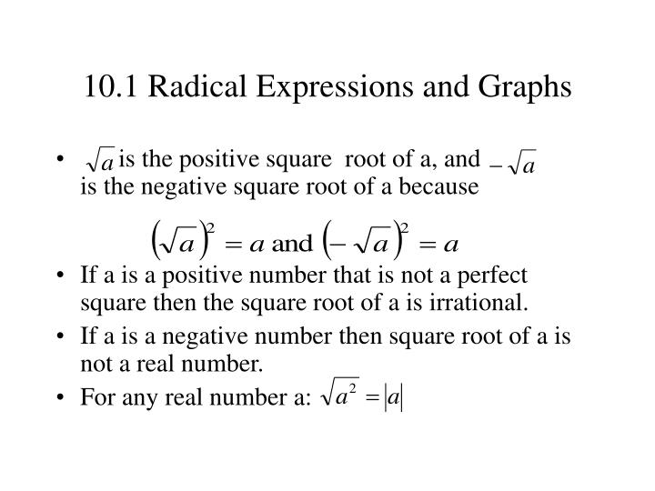 10 1 radical expressions and graphs