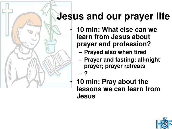 Jesus and our prayer life