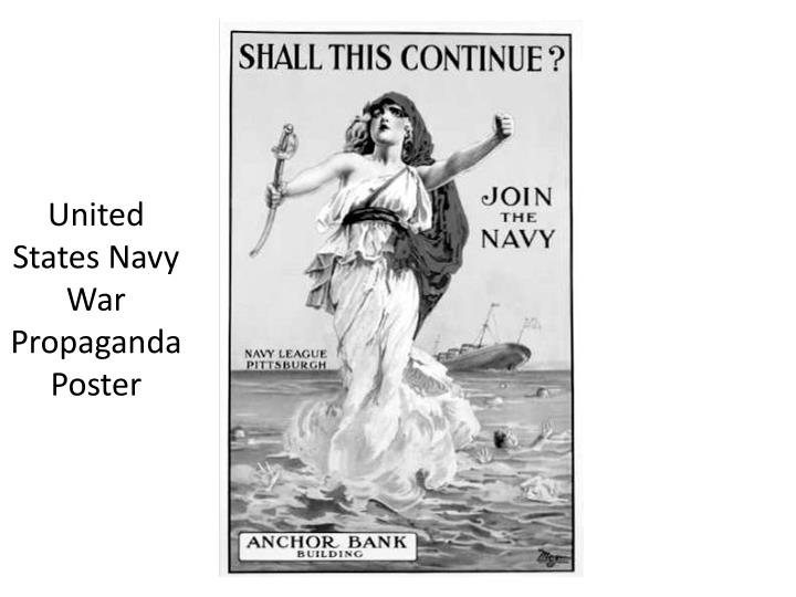 United States Navy War Propaganda Poster