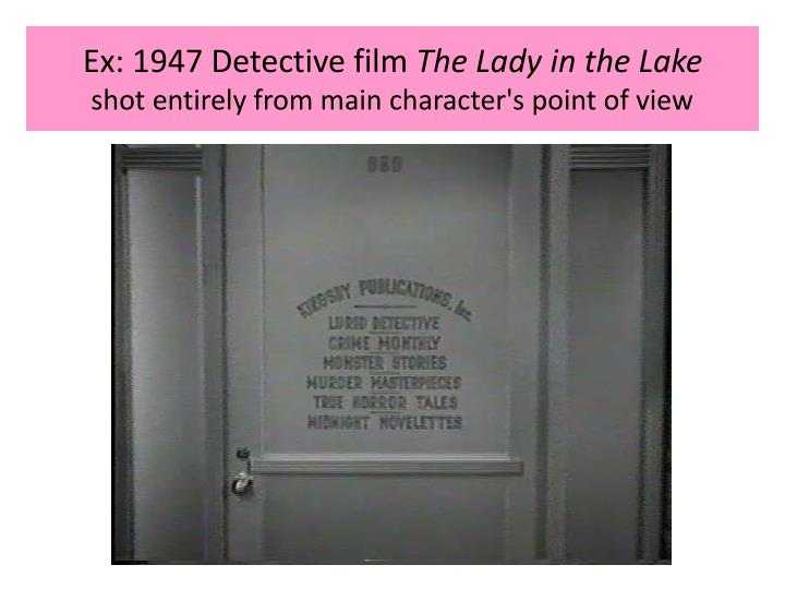 Ex: 1947 Detective film