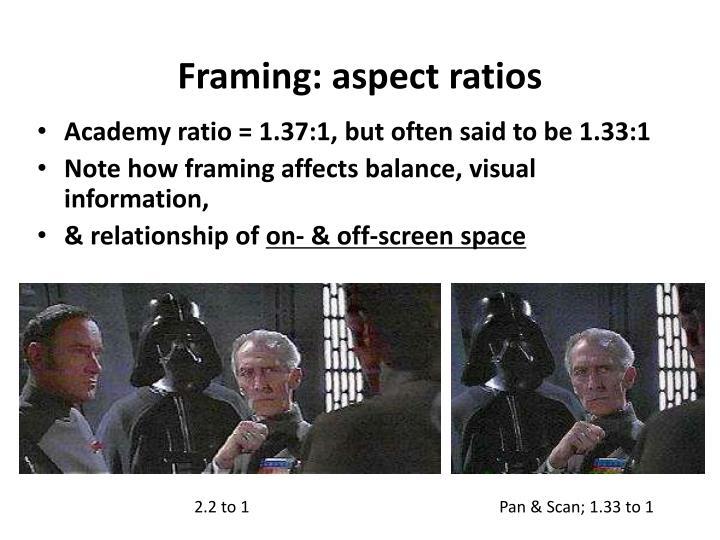 Framing: aspect ratios