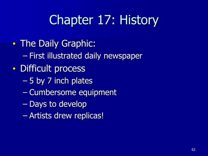 Chapter 17: History