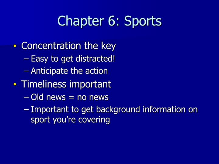Chapter 6: Sports