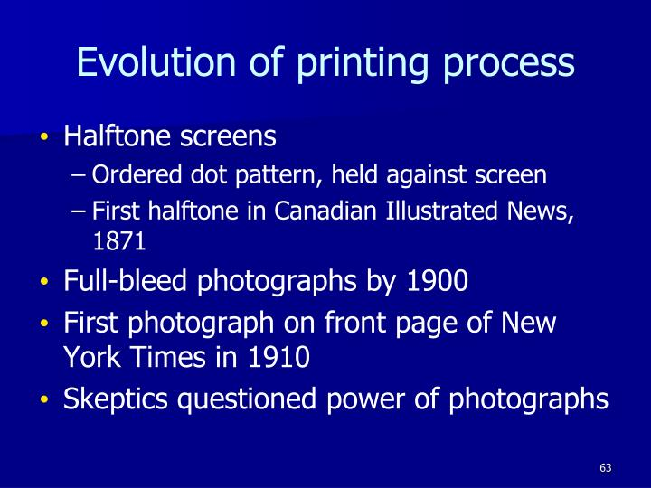 Evolution of printing process